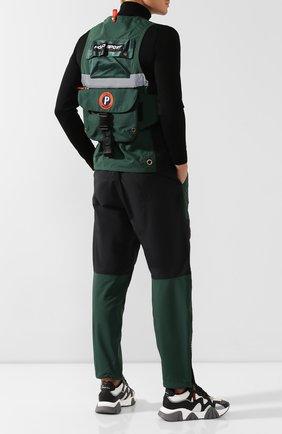 Мужской жилет с поясной сумкой outdoors POLO RALPH LAUREN зеленого цвета, арт. 710760925 | Фото 2