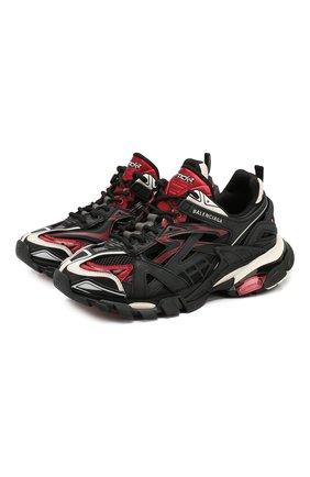 Женские текстильные кроссовки track.2 BALENCIAGA бордового цвета, арт. 568615/W2GN3 | Фото 1