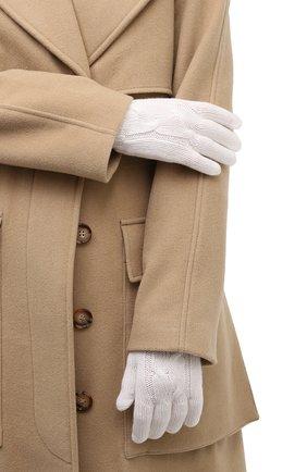 Женские кашемировые перчатки LORO PIANA белого цвета, арт. FAI8570 | Фото 2 (Материал: Кашемир, Шерсть; Статус проверки: Проверена категория)