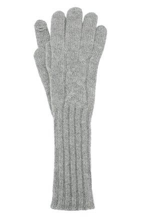 Женские кашемировые перчатки courchevel LORO PIANA серого цвета, арт. FAI8570 | Фото 1