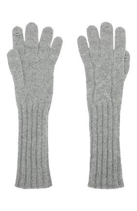 Женские кашемировые перчатки courchevel LORO PIANA серого цвета, арт. FAI8570 | Фото 2