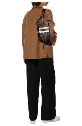 Женская поясная сумка sonny medium BURBERRY коричневого цвета, арт. 8021483   Фото 2 (Материал: Экокожа; Стили: Классический; Кросс-КТ: другое; Застежка: Молния; Размер: medium)