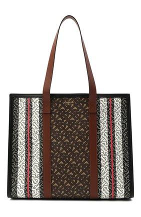 Женский сумка-тоут tb small BURBERRY коричневого цвета, арт. 8019383 | Фото 1