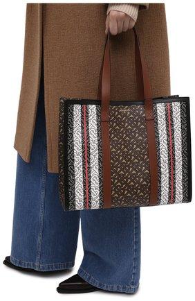 Женский сумка-тоут tb small BURBERRY коричневого цвета, арт. 8019383 | Фото 2