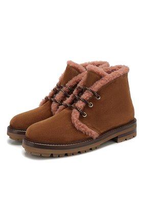 Женские замшевые ботинки AGL коричневого цвета, арт. D717586VZKW031C580 | Фото 1
