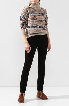 Женские замшевые ботинки AGL коричневого цвета, арт. D717586VZKW031C580 | Фото 2