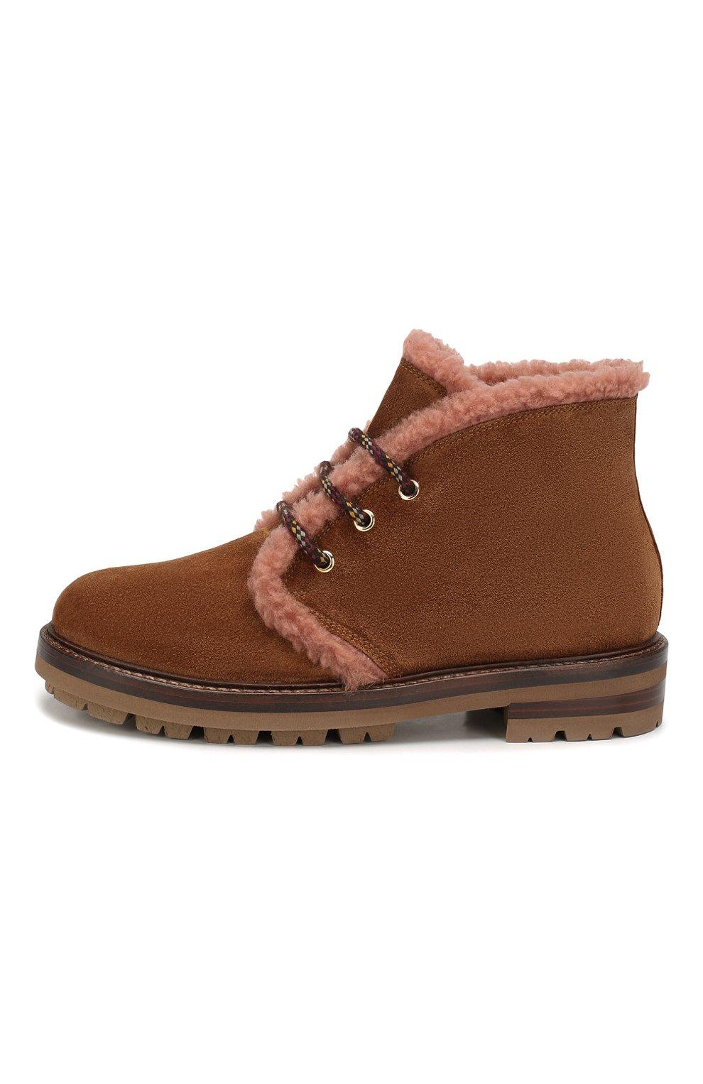 Женские замшевые ботинки AGL коричневого цвета, арт. D717586VZKW031C580 | Фото 3