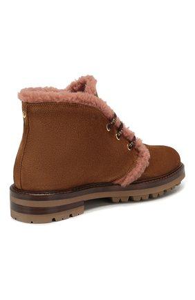 Женские замшевые ботинки AGL коричневого цвета, арт. D717586VZKW031C580 | Фото 4