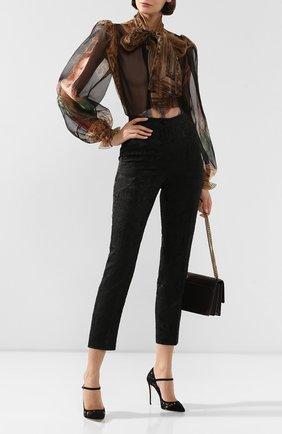 Женская текстильные туфли mary jane DOLCE & GABBANA черного цвета, арт. CD0830/AM261 | Фото 2