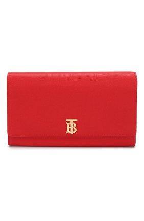 Женская кожаный кошелек hannah BURBERRY красного цвета, арт. 8020729   Фото 1