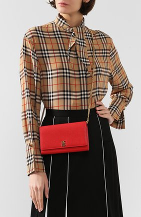 Женская кожаный кошелек hannah BURBERRY красного цвета, арт. 8020729   Фото 2