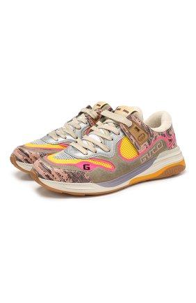 Женские комбинированные кроссовки ultrapace GUCCI разноцветного цвета, арт. 592348/1LH20 | Фото 1