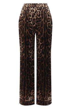 Женские шелковые брюки DOLCE & GABBANA коричневого цвета, арт. FTAMPT/FSAXY | Фото 1