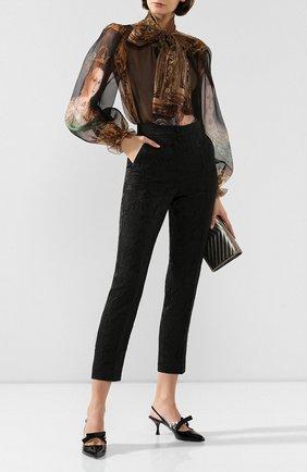 Женские брюки DOLCE & GABBANA черного цвета, арт. FTAM2T/FJRDJ | Фото 2