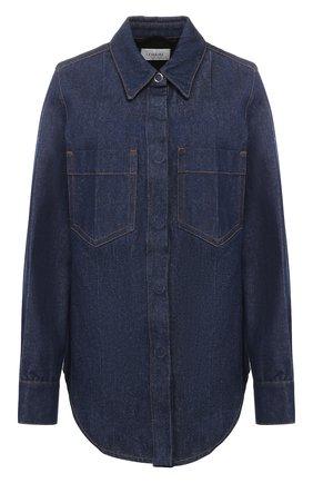 Женская джинсовая рубашка LEMAIRE синего цвета, арт. W 193 SH249 LD038 | Фото 1