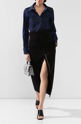 Женская джинсовая рубашка LEMAIRE синего цвета, арт. W 193 SH249 LD038 | Фото 2