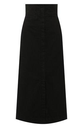 Женская джинсовая юбка LEMAIRE черного цвета, арт. W 194 SK233 LD034 | Фото 1