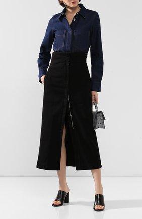Женская джинсовая юбка LEMAIRE черного цвета, арт. W 194 SK233 LD034 | Фото 2