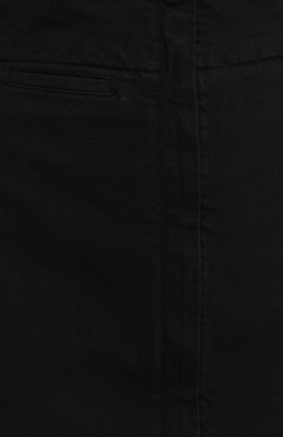 Женская джинсовая юбка LEMAIRE черного цвета, арт. W 194 SK233 LD034 | Фото 5 (Кросс-КТ: Деним; Материал внешний: Хлопок, Деним; Длина Ж (юбки, платья, шорты): Макси; Стили: Кэжуэл; Статус проверки: Проверена категория)