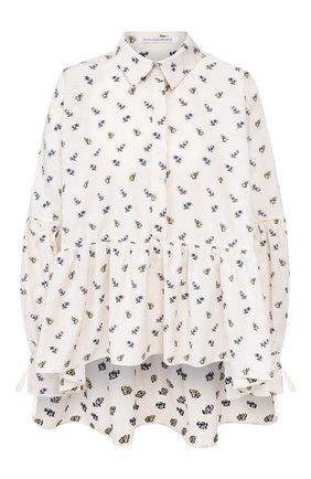 Женская хлопковая блузка CECILIE BAHNSEN бежевого цвета, арт. PF19-0023 | Фото 1