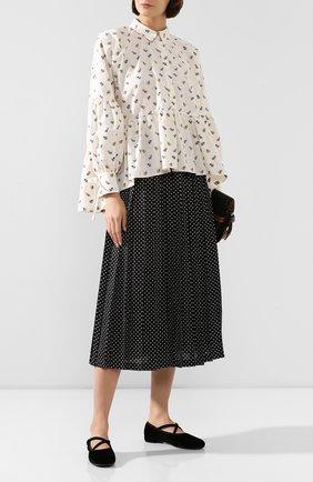 Женская хлопковая блузка CECILIE BAHNSEN бежевого цвета, арт. PF19-0023 | Фото 2