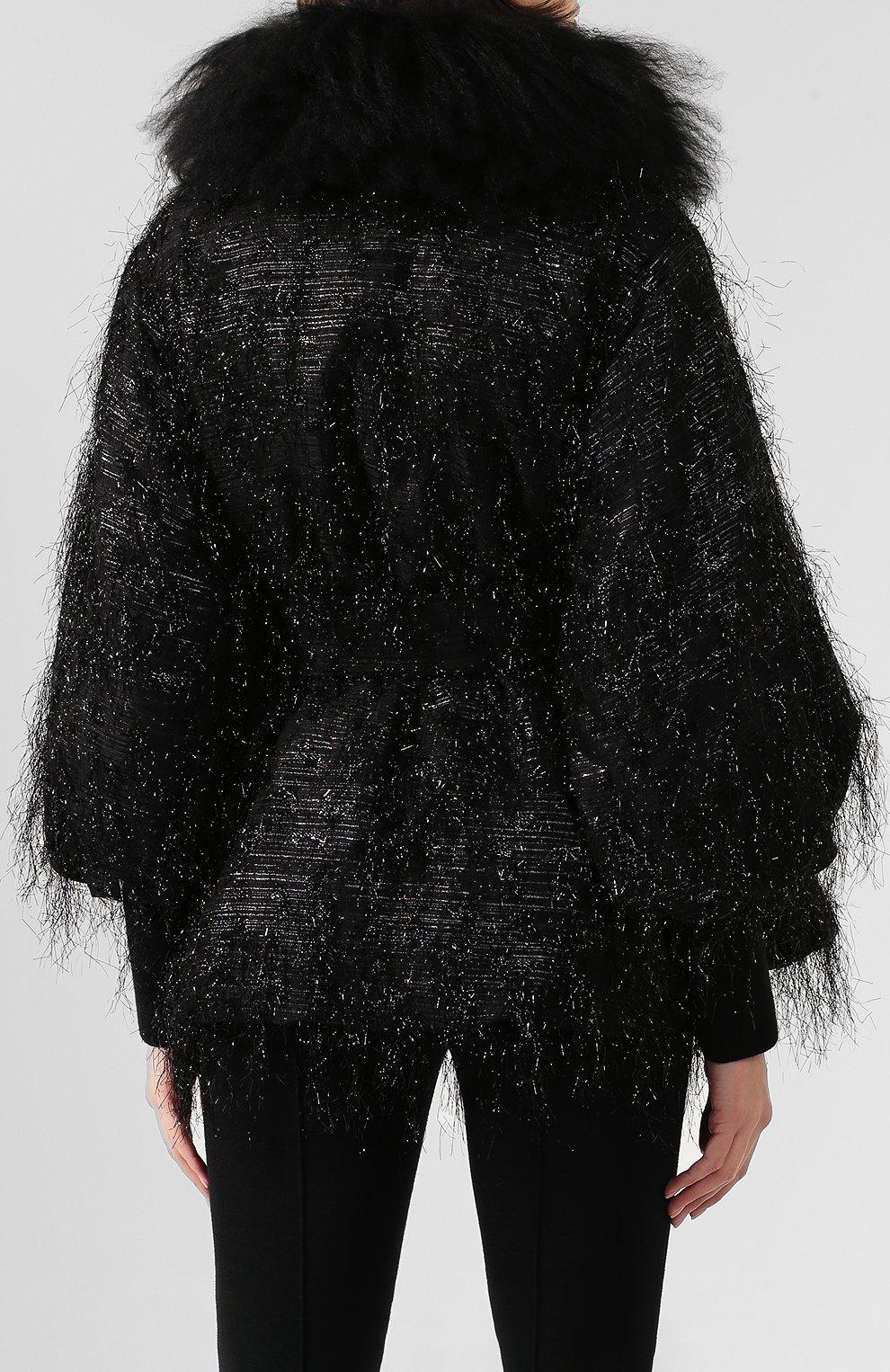 Куртка с меховой отделкой | Фото №4