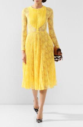 Женское кружевное платье ERMANNO ERMANNO SCERVINO желтого цвета, арт. 45T AB58 PIZ   Фото 2