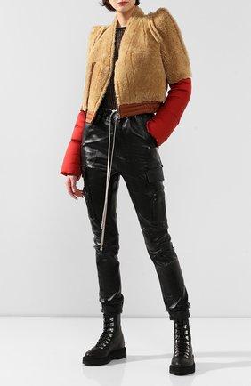 Женская пуховая куртка RICK OWENS бежевого цвета, арт. R019F5795/C0M13   Фото 2