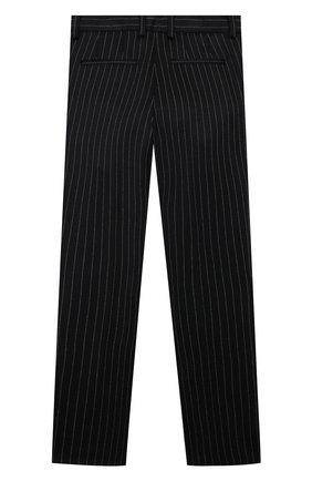 Детские брюки DOLCE & GABBANA черного цвета, арт. L43P10/FRRDD/2-6   Фото 2