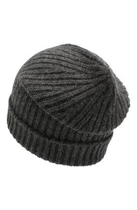 Мужская шапка из смеси шерсти и кашемира TEGIN серого цвета, арт. CW5246   Фото 2