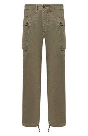 Мужской хлопковые брюки RRL зеленого цвета, арт. 782788346 | Фото 1