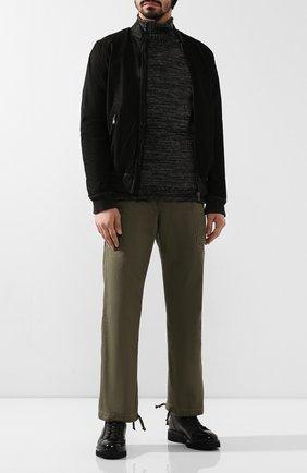 Мужской хлопковые брюки RRL зеленого цвета, арт. 782788346 | Фото 2