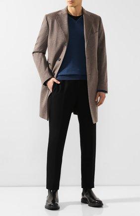 Мужской пуловер из смеси кашемира и шелка SVEVO синего цвета, арт. 0671SA19/MP06/2   Фото 2
