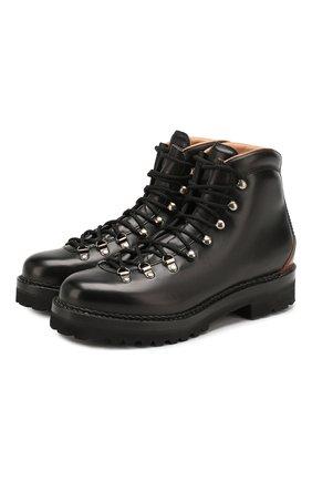 Мужские кожаные ботинки RALPH LAUREN черного цвета, арт. 815776263 | Фото 1