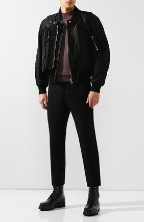 Мужские кожаные ботинки RALPH LAUREN черного цвета, арт. 815775170 | Фото 2