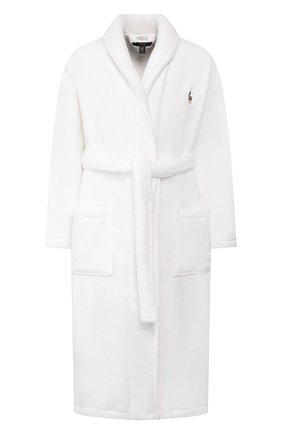 Мужской хлопковый халат POLO RALPH LAUREN белого цвета, арт. 714621695 | Фото 1