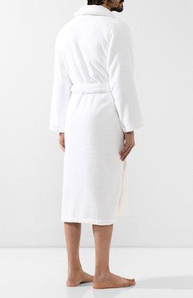 Мужской хлопковый халат POLO RALPH LAUREN белого цвета, арт. 714621695   Фото 4