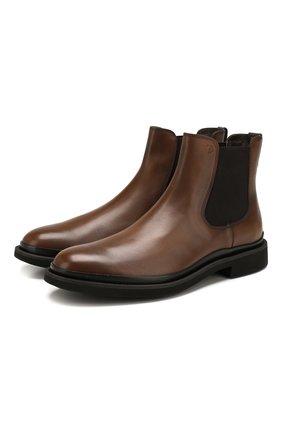 Мужские кожаные челси TOD'S коричневого цвета, арт. XXM89B0CD50D9C | Фото 1