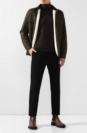 Мужские кожаные челси TOD'S коричневого цвета, арт. XXM89B0CD50D9C | Фото 2