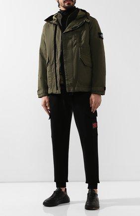 Мужская куртка STONE ISLAND хаки цвета, арт. 711543999 | Фото 2