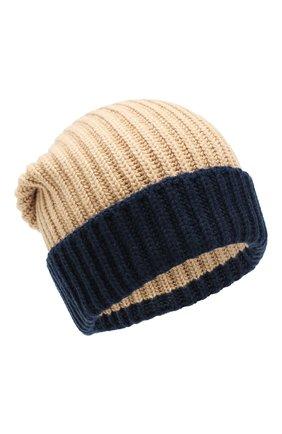 Мужская кашемировая шапка LORO PIANA бежевого цвета, арт. FAI8797 | Фото 1