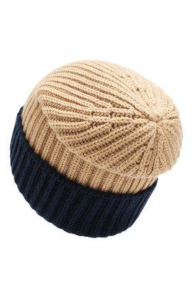 Мужская кашемировая шапка LORO PIANA бежевого цвета, арт. FAI8797 | Фото 2
