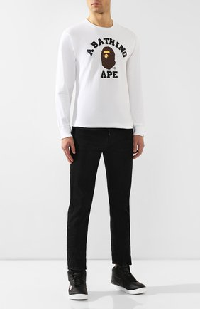 Мужские кеды BAPE черного цвета, арт. 1F70191002 | Фото 2