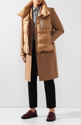 Мужской шерстяное пальто с жилетом BURBERRY бежевого цвета, арт. 4559214 | Фото 2