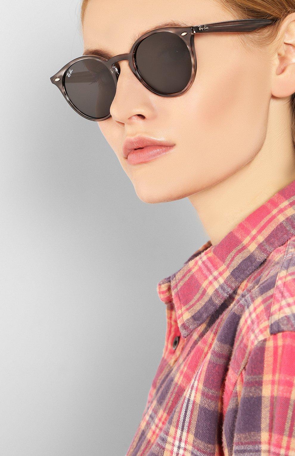 Женские солнцезащитные очки RAY-BAN серого цвета, арт. 2180-643087 | Фото 2