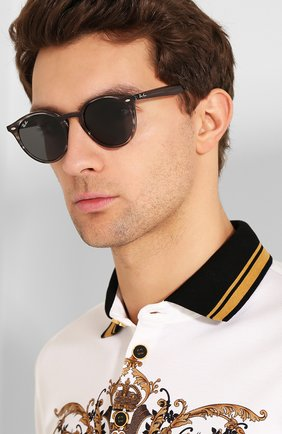 Женские солнцезащитные очки RAY-BAN серого цвета, арт. 2180-643087 | Фото 3