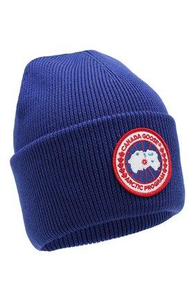 Женский шерстяная шапка CANADA GOOSE синего цвета, арт. 6936L | Фото 1