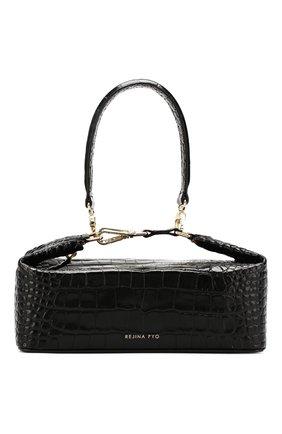 Женская сумка olivia REJINA PYO черного цвета, арт. B26/LEATHER EMB0SS CR0C   Фото 1