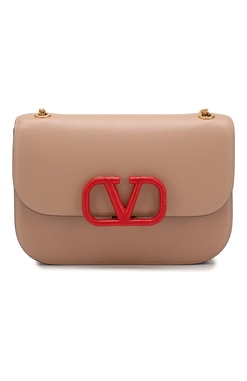 Женская сумка valentino garavani vlock small VALENTINO бежевого цвета, арт. SW0B0F21/JEA | Фото 1
