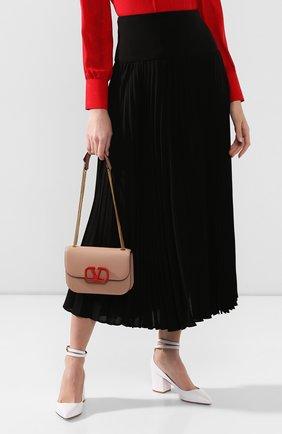 Женская сумка valentino garavani vlock small VALENTINO бежевого цвета, арт. SW0B0F21/JEA | Фото 2